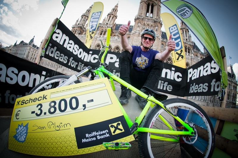 Sam Pilgrims wins Vienna Air King for the 3rd time in a row. Photo by Bartek Wolinski - http wolisphoto.com