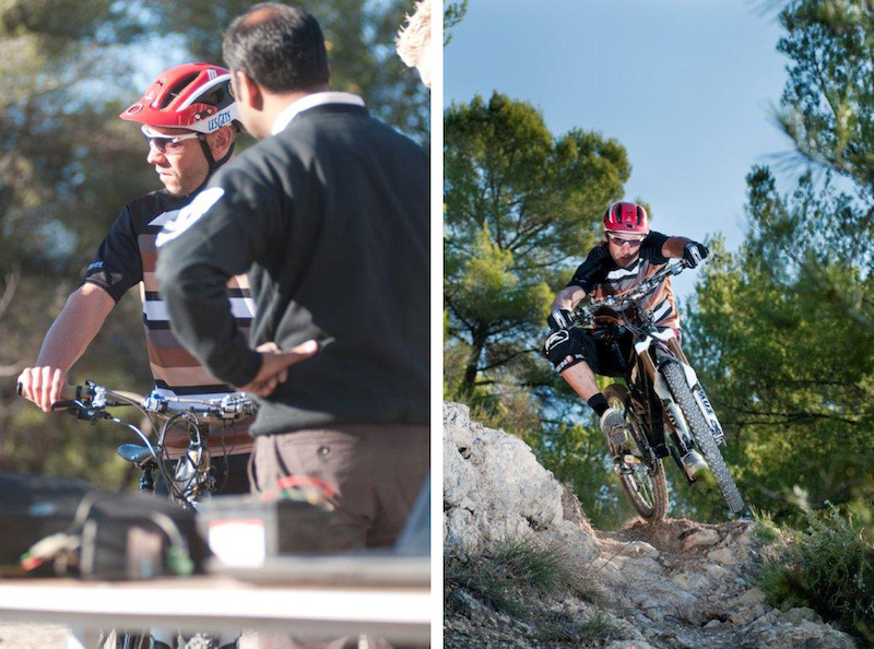 Fabien Barel on-board testing with Brake Authority