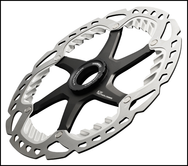 Shimano Saint DH ICE rotor with extended cooling fins 2013