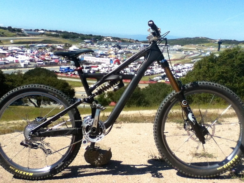 """Enduro with 180mm Float and 7"""" EVO rear end at Sea Otter 2012"""