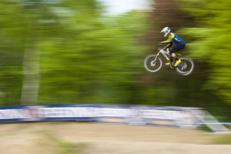 Practice Session during round 2 of the 4X Pro Tour at Poland 5 May 2012 Photo Charles Robertson