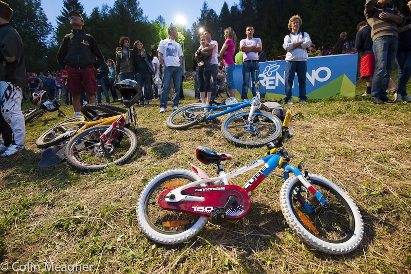 Cube was debuting a new 4X bike in Val di Sole.