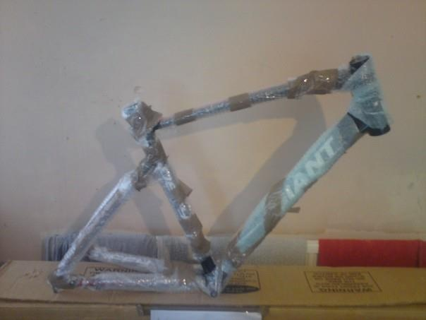 How you wrap up a frame when shipping it to avoid any cosmetic damage.