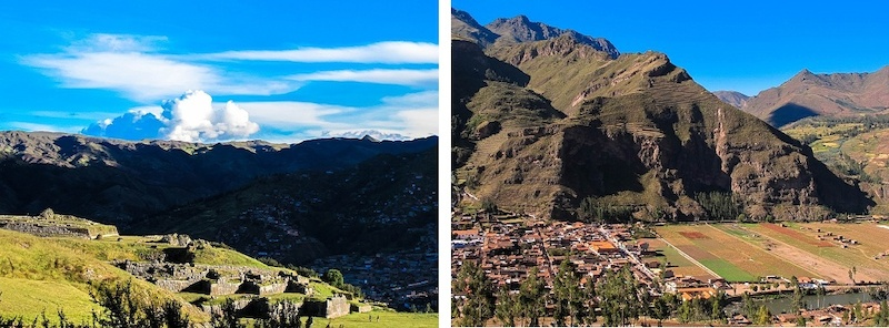 Riding on the hillsides of Cusco. And the view of the Sacred Valley.