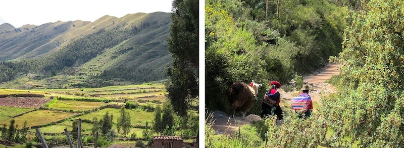 Riding through the Cusco Valley. Meeting new people on the way.