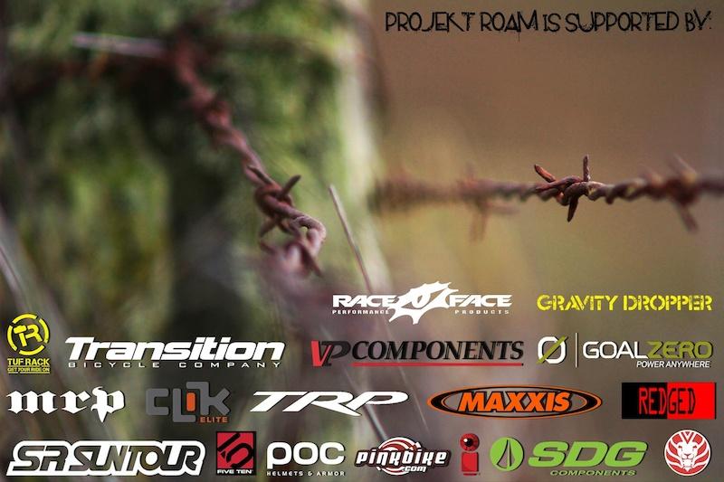 Projekt Roam 2012 sponsors. Check out more www.projektroam.com
