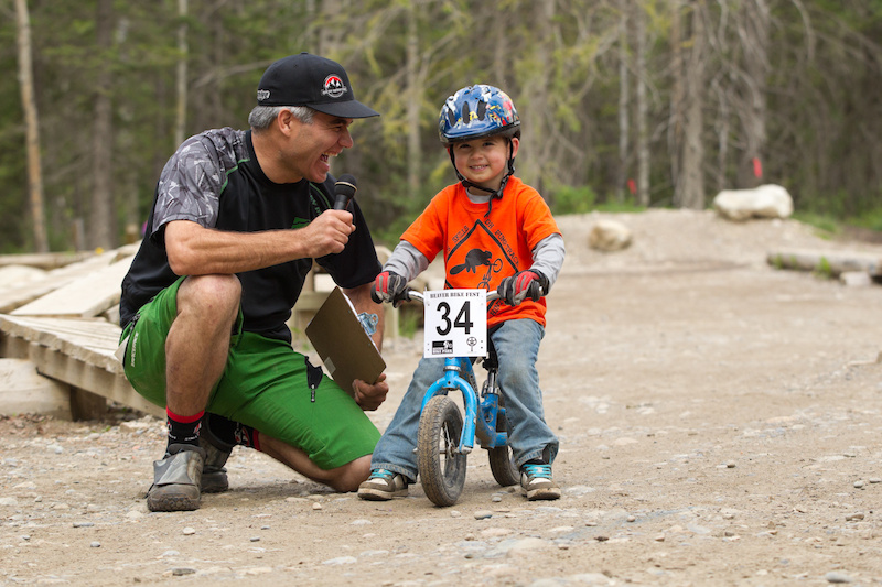 Brett Tippie interviewing a participant of the 3rd annual Beaver Bike Fest