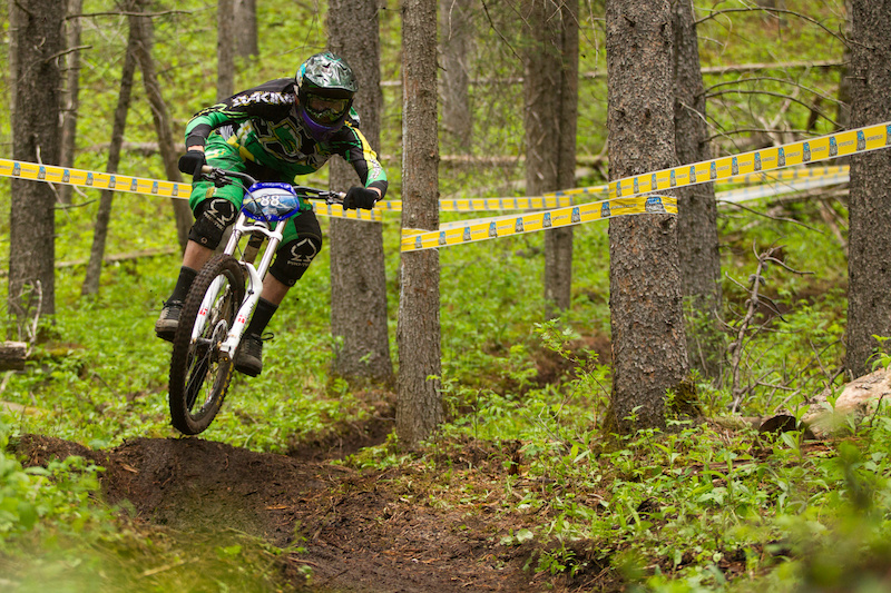 Geoff Gulevich during his race run in the AFD Racing Gravity Cup Hinton