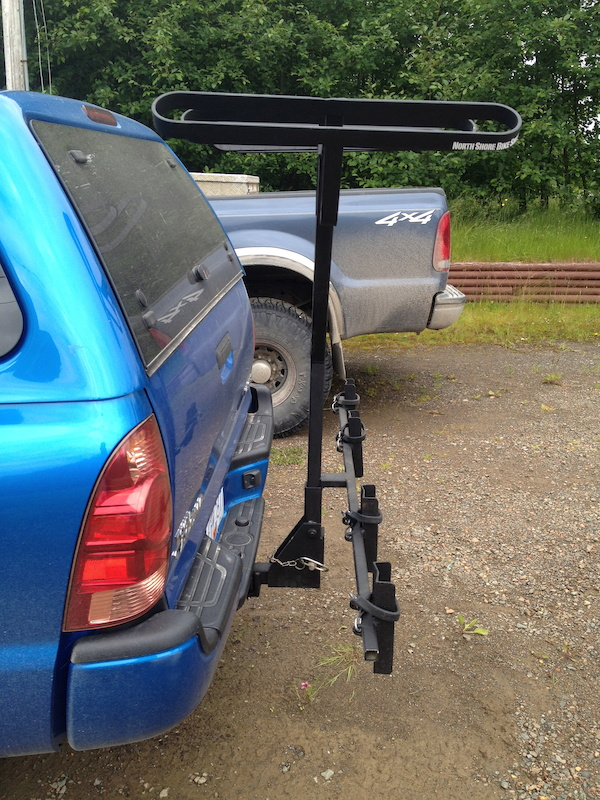Home made bike rack.