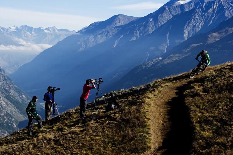 Behind the scenes in Zermatt Swizerland. Photographed in August 2011.