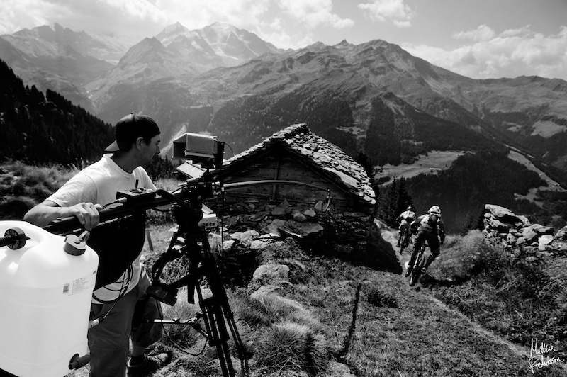 Wade Simmons and Ludo May in Val De Banges Swizerland. Photographed in August 2011 by Mattias Fredriksson. Photographed during a film shoot with ANTHILL Films for their upcoming movie Strength In Numbers.