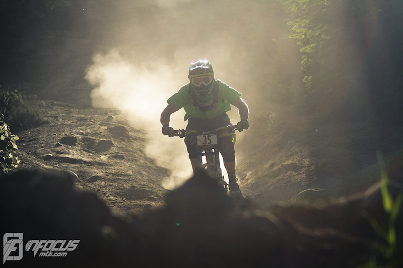 Andi ripping down the Phat Wednesdays racetrack in Whistler.