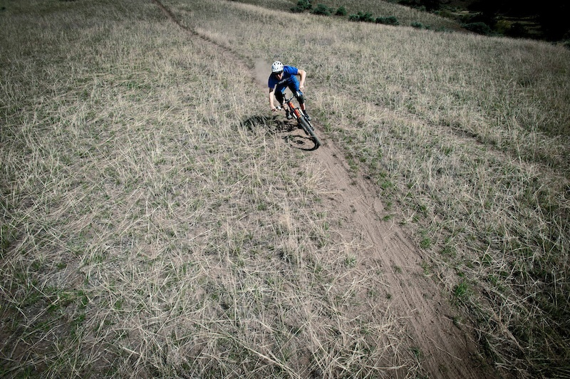 James Doerfling ripping singletrack on the Knolly Chilcotin