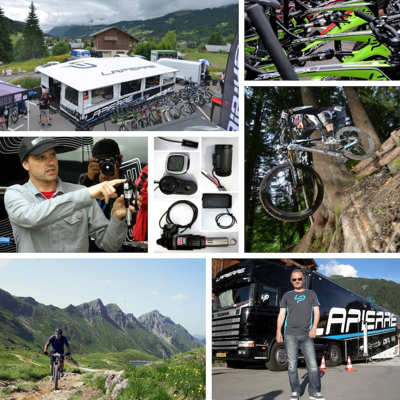 collage of Lapierre's 2013 launch in Morzine