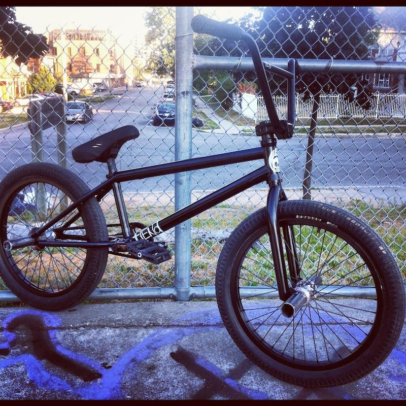 The new bike Fiend Embryo frame fork and bars