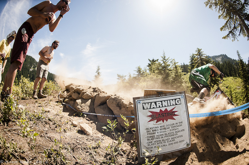 Warning Blasting The amount of corner blasting was a high danger this weekend. The dust and high heat kept most of the spectators hanging out in the shade near the bottom.