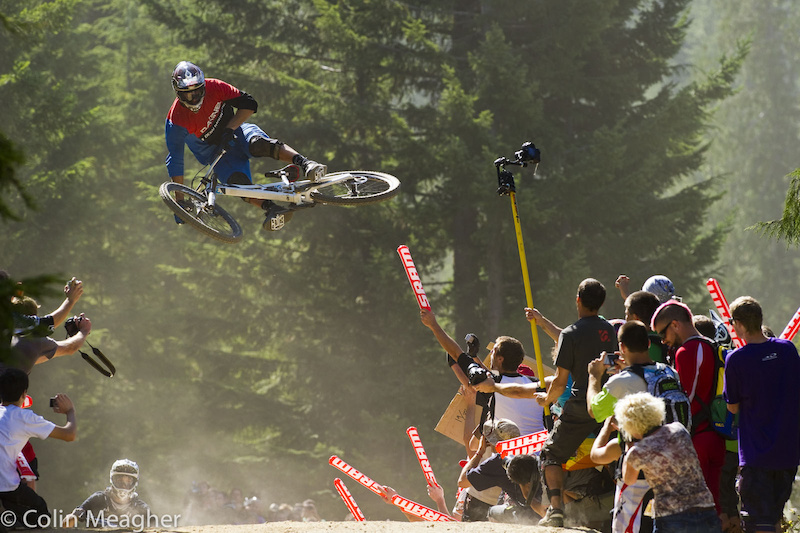 King of massive whips Thomas Vanderham was definitely a crowd pleaser here in Whistler.