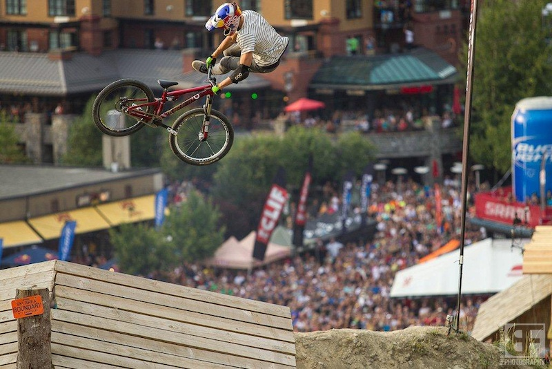 Martin S derstr m performing a 360 -tailwhip in the Joyride Super-Finals