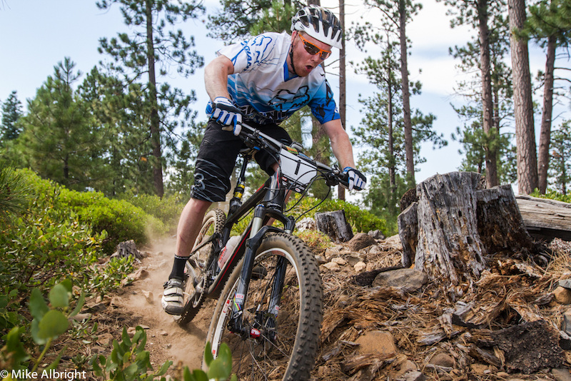 Giant s Josh Carlson Newbury Park CA has been tearing up the Enduro Series this year along with everyone s Strava times . This race he placed 3rd in the Pro Men s category right behind Adam Craig and Aaron Bradford.