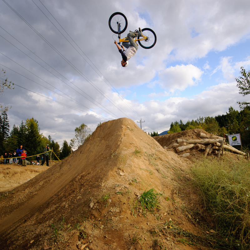 Throwin down at the Huck n Berries Jump Jam. The action takes place Sept. 8 in Rossland BC. Vince Boothe photo.