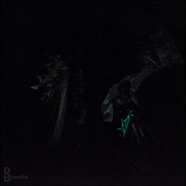 The glow-in-the-dark Rocky Mountain Flatline