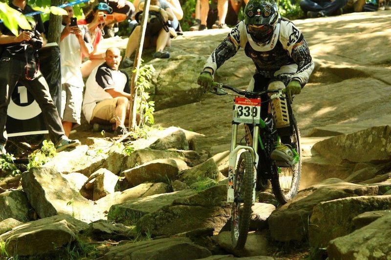 Asylum Rock Garden at Mountain Creek Bike Park. First race of the season