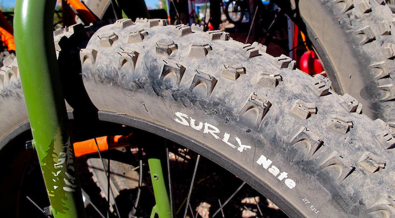 Surly s Surly Nate 26.4.0 tire is the baddest looking rubber I ve seen in a while.