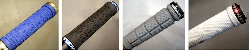 Lizard Skins Peat Moab Northshore and Bearclaw grips up close and personal.