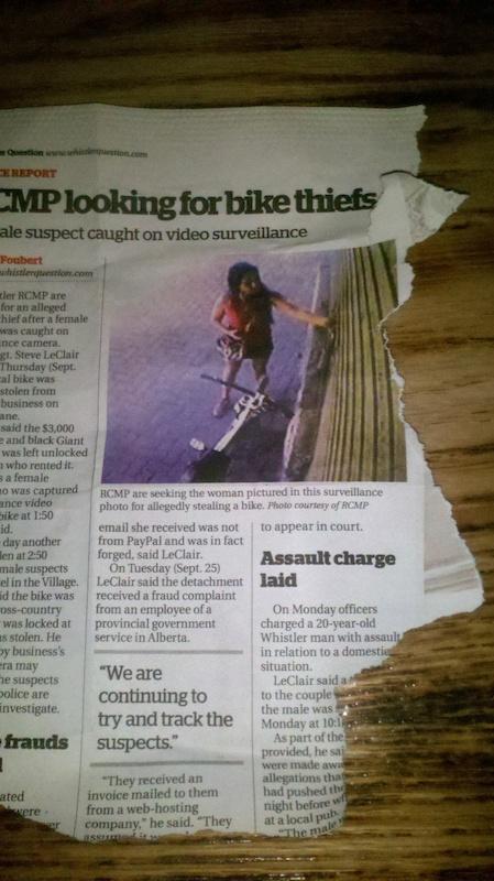 she stole my bike