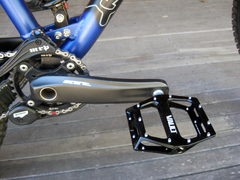 My Coiler Bike 1 updates 2012. DMR Vault pedals. Flip Pins removed and replaced with grub screws for better grip.