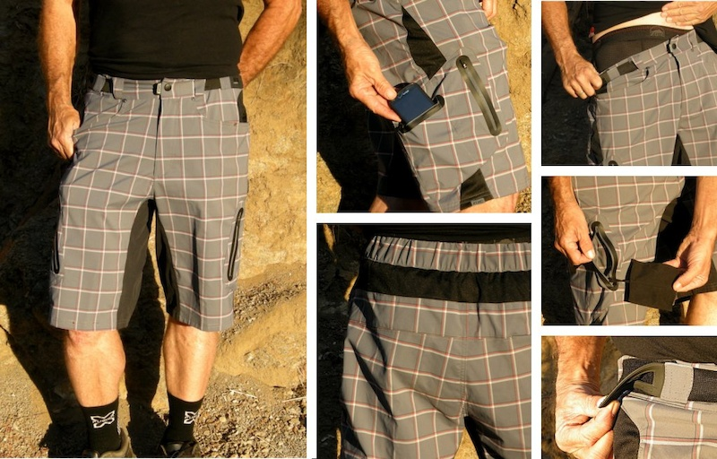 Zoic Ether Plaid trail short