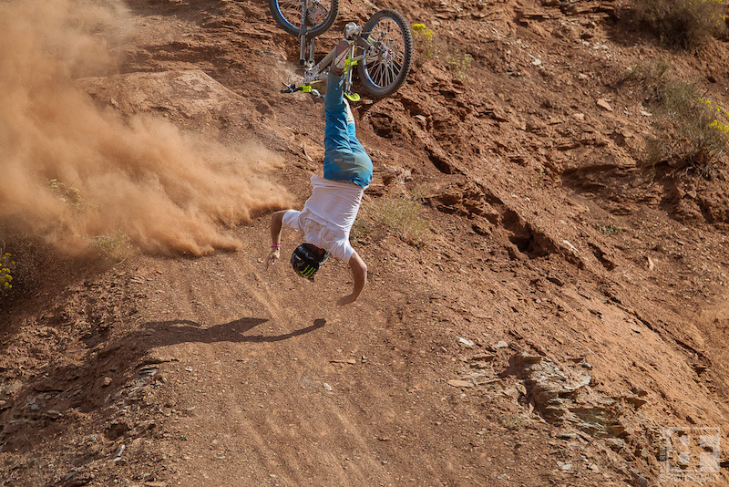Sam Pilgrim isn t a fan of this event. I hate Rampage was his tweet soon after the event. Can you blame the guy when your second wrong goes horribly awry Huge over the bars is an understatement. Sam walked away though and will be partying hard this evening. Tough Kid.