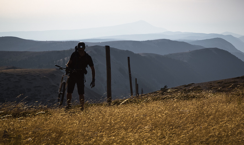 Fred Funel is reaching is goal gt a perfect day of riding On top of our world in south of France.