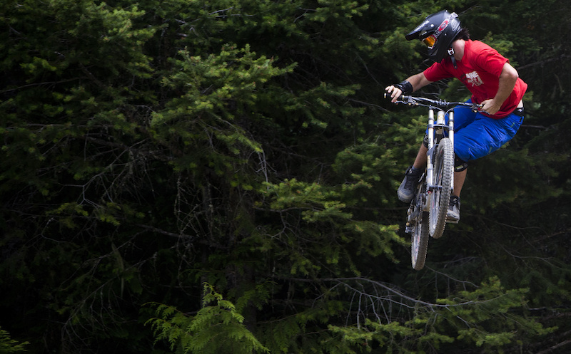 Mountain bike rider Dylan Sherrard is seen riding the Whistler Bike Parkl in Whistler B.C. Monday August 13 2012. THE CANADIAN PRESS Jonathan Hayward