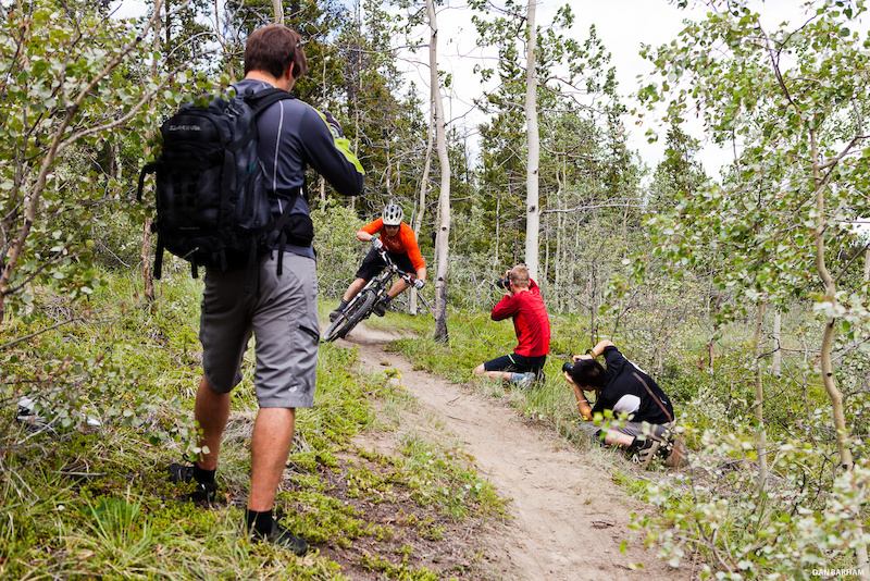 Behind the scenes of the Dan Barham Photo Clinic a multi-day experience from Boreale Mountain Biking.