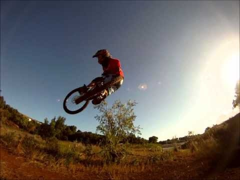 my chilling at my dirt jumps on my trek session