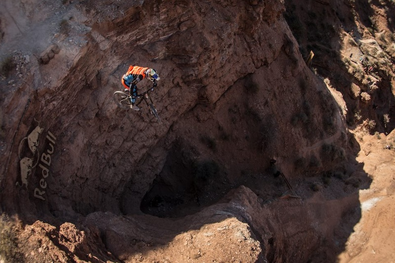 Another angle of Brandon Semenuk sending big drop on his line at Red Bull Rampage 2012.It is not my photo,but it is such a great picture,that I had to upload it :)