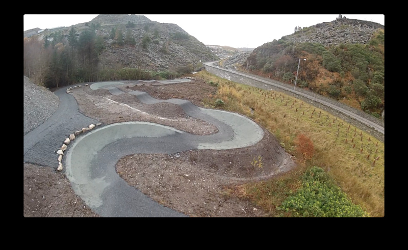 New Jump track at Antur Stiniog Dwon hill centre, Ffestiniog North Wales