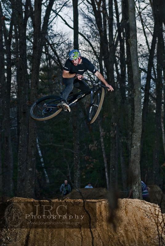 Sean Guy whips through the air.