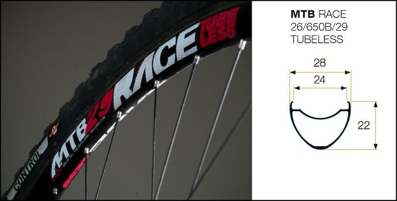 American Classic MTB Race 29 Tubeless Rim Profile