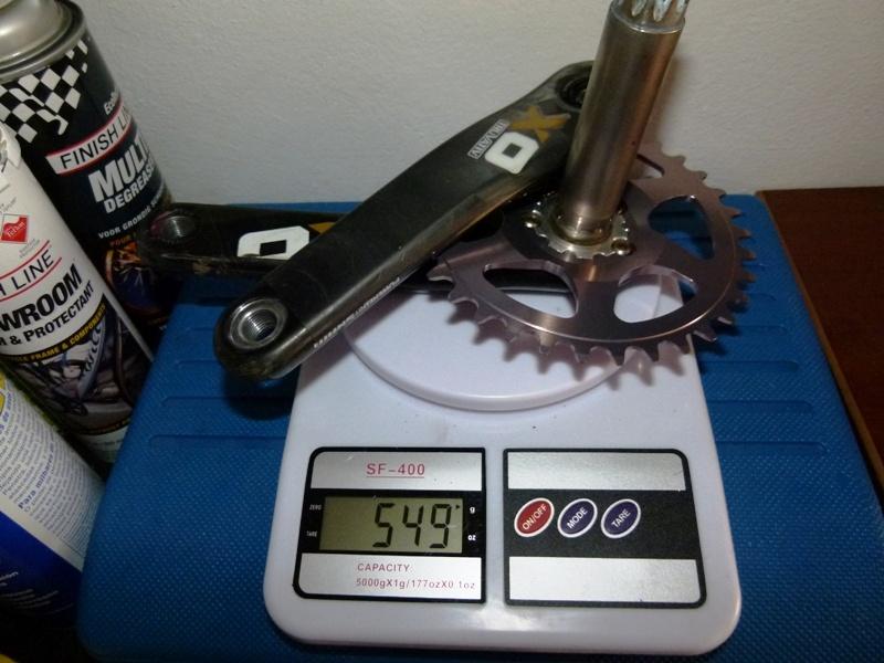SRAM X0 cranks + MRP Bling Ring 34T