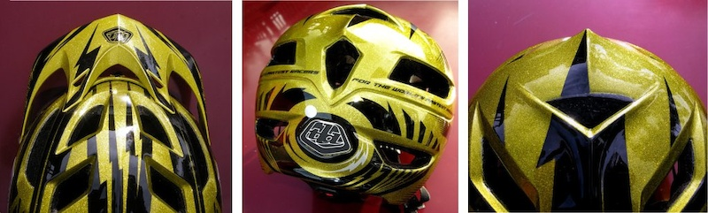 Troy Lee Designs A1 helmet detail views