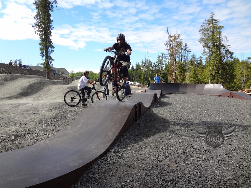 Sunshine and a pumptrack - good times in Tofino