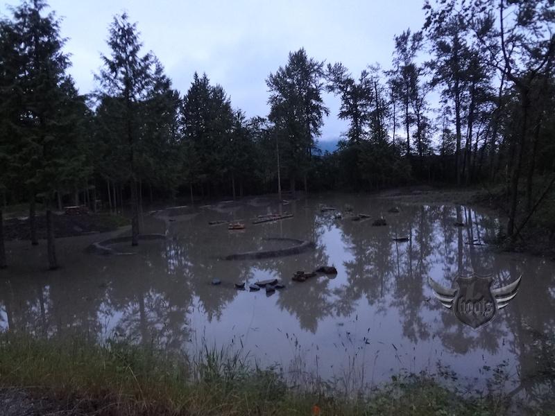 A flooded Fraser.