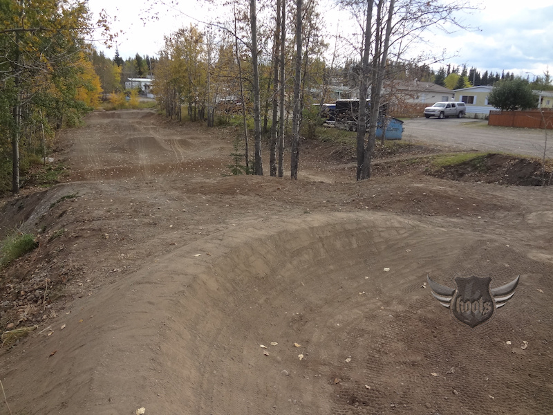 Fresh dirt at the mini park in Hinton