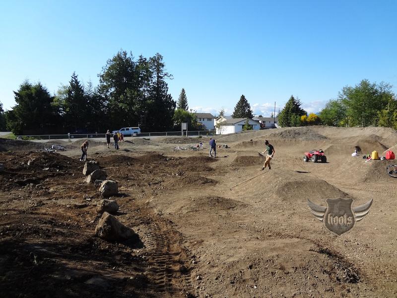 Digging at the Ukee Bike Park.