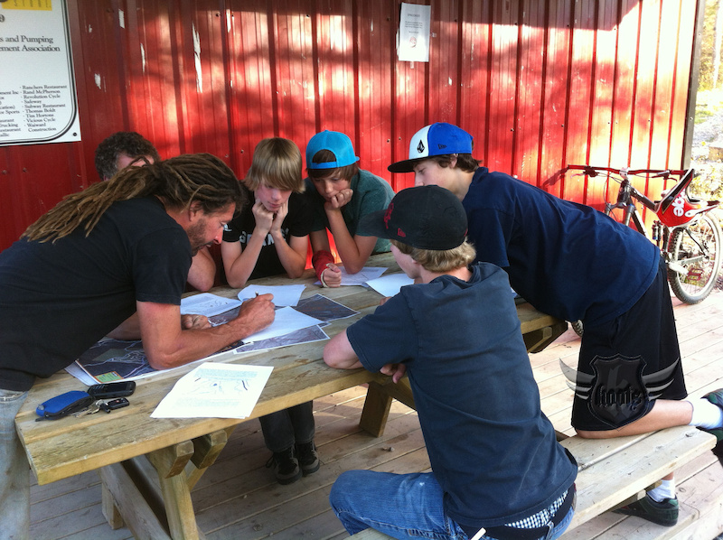 Hinton Mountain Bike Association Youth Committee getting down to business.