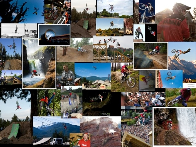 Collage from the years with Santa Cruz bikes.