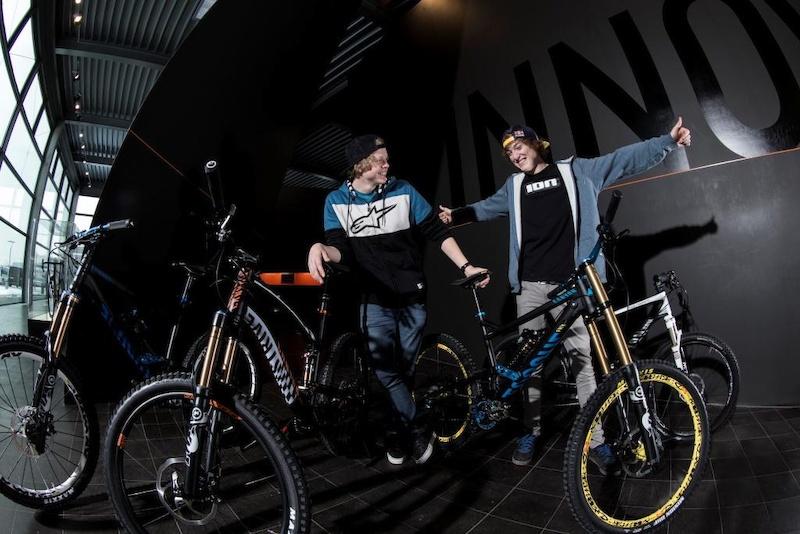 Thomas and Anton with their new bikes Copyright Markus Greber