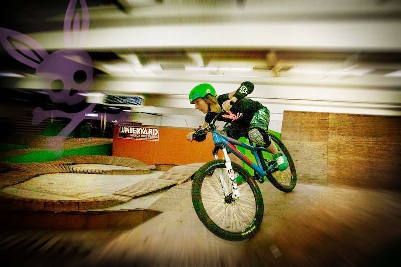 Charging off the mini wall ride at Sugar Showdown. Photo Chach Photography Edited Jen Crane